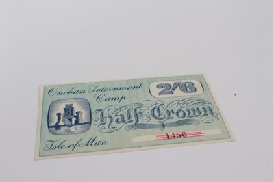 Lot 7-Isle of Man – Onchan Internment Camp Half Crown banknote