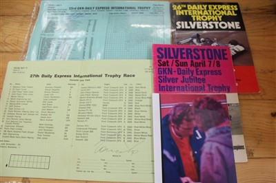 Lot 2962-John Surtees and Niki Lauda - two signed 1970s Silverstone racing programmes