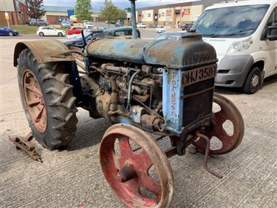 Lot 2955-Fordson Model N Tractor, unused for many years and requiring total restoration, this tractor appears to be complete and would make an interesting project.