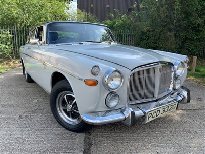 Lot 2951-1969 Rover P5B Coupe Automatic, finished in Silver Birch, with a Burnt Ash roof and a Mulberry leather interior. With an older restoration that included replacement wings, sills and new carpets. 3...