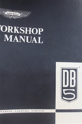 Lot 2964-1960s Aston Martin DB5 workshop manual