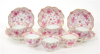 Lot 6-Six Meissen cups and saucers