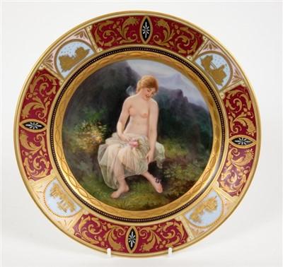 Lot 1-19th century porcelain plate