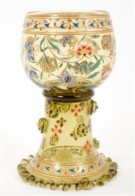 Lot 4-19th century enamelled glass goblet