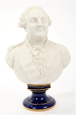 Lot 8-Sèvres Porcelain bust of Louis XVI