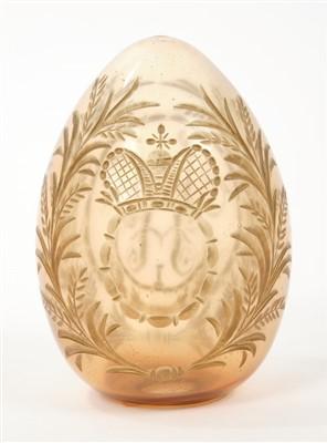 Lot 22-Russian glass egg