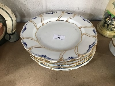 Lot 46-Set of seven early 19th century Derby plates