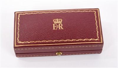 Lot 2-H.M. The Queen Elizabeth II - fine pair gold (9ct) and enamel Royal presentation cufflinks.