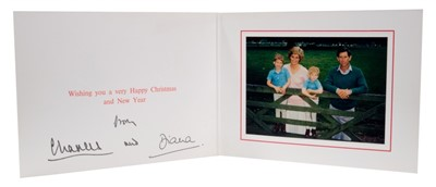 Lot 90 - T.R.H. The Prince and Princess of Wales, signed 1988 Christmas card