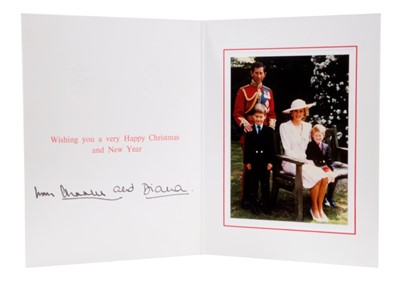 Lot 91 - T.R.H. The Prince and Princess of Wales, signed 1989 Christmas card