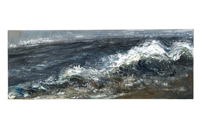 Lot 1432-*Maggi Hambling (b.1945) oil on canvas - Dark Morning, signed verso and dated '05, , 30cm x 80cm