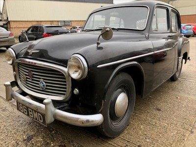 Lot 2950-1954 Hillman Minx Mark VII, 1265cc engine, finished in black with red interior, Registration No. 186 BMD