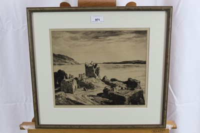 Lot 18-*Leonard Russell Squirrell signed etching