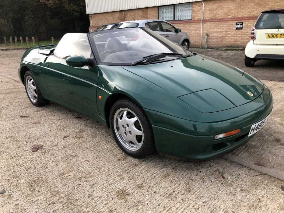 Lot 2951-1991 Lotus Elan SE Turbo Convertible, Registration No. H485 JJO, finished in British Racing Green, with leather interior. Supplied with original sales invoice for £22,140 from High Park Garage, det...