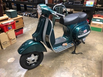 Lot 2954-2016 LML Star 125cc Automatic Vespa style Scooter, Registration No. PE16 UKM, only 1,608 miles from new,  MOT until 10th March 2020, in as new condition and representing a great saving on new price...