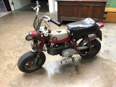 Lot 2955-1969 Honda Z Series 50cc 'Monkey Bike', Registration No. EPU 88G, last on the road in the early 1980's and requiring complete restoration.  