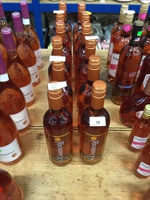Lot 15-Rose Wine- Twelve bottles of Continental Wines Rose Blush (12)