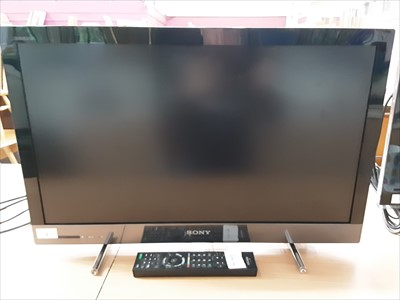 Lot 2-Sony TV  model number KDL-26EX320 with remote control