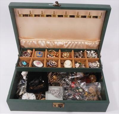Lot 19-Jewellery box containing vintage costume jewellery