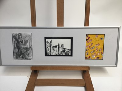 Lot 28-Steven Ling, (contemporary) mixed media - Buckfast Abbey from the Northwest, ex; Royal Academy