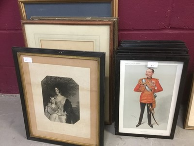 Lot 11-Collection of Victorian and Edwardian Spy prints - notable characters