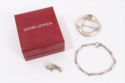 Lot 1-Georg Jensen silver jewellery