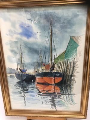 Lot 14-Stuart Maxwell Armfield (1916-2000) watercolour - Harbour scene