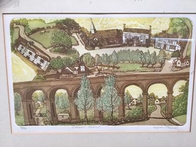 Lot 22-Group of three Glynn Thomas etchings