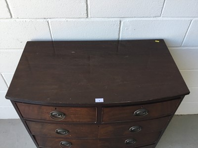 Lot 4-Regency bowfront chest of two short and three long drawers