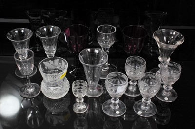 Lot 16-Group of 18th and 19th century glassware