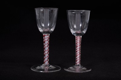Lot 19-Two 18th century wine glasses