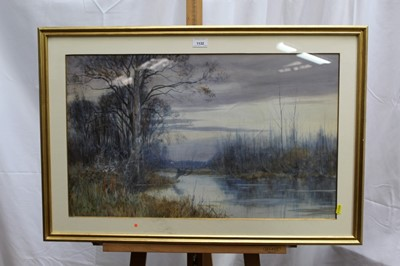 Lot 13-Robert Winter Fraser (1848-1906) watercolour 'Hanworth' signed and dated '89, inscribed