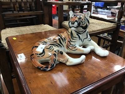 Lot 6-Russian porcelain tiger