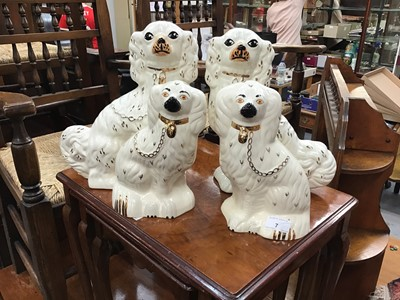 Lot 7-Two pairs of Staffordshire - Style dogs (One Pair of Beswick)