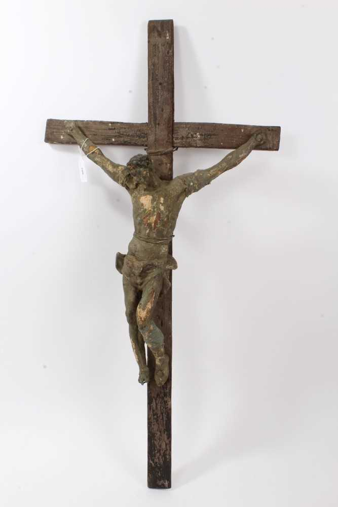 Lot 706-19th century carved crucifix