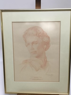 Lot 6-Richard Stone (b. 1951) signed print of the queen