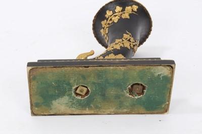 Lot 700-19th century Continental Grand Tour black patinated and ormolu cornucopia vase