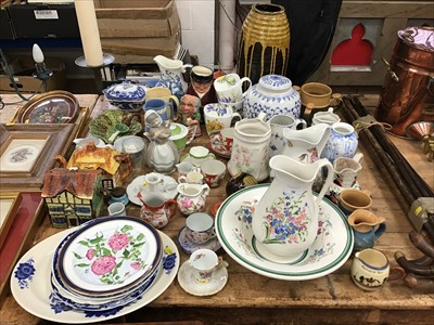 Lot 16-Group of decorative china and art pottery