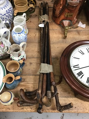 Lot 17-Group of Victorian and later walking sticks