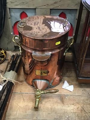 Lot 18-Late Victorian copper urn