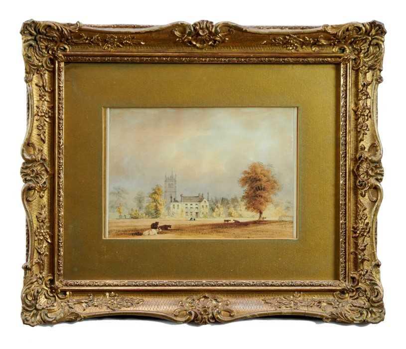 Lot 10-Victorian watercolour, Cambridge Park