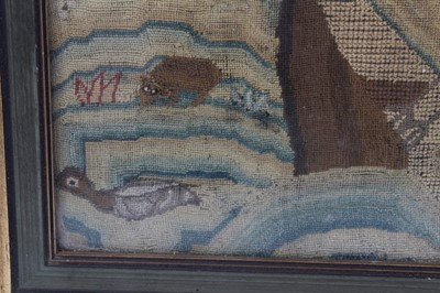 Lot 714-Early, probably 17th century, needlework fragment