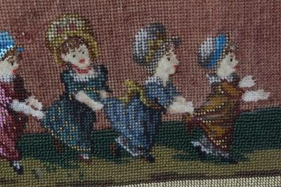 Lot 717-Three Victorian bead work trays