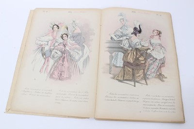 Lot 715-19th century French fashion magazine - La Mode de 1830 a 1870