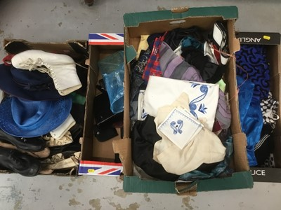 Lot 9-Collection vintage hats and textiles