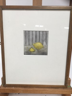 Lot 19-Daphne Reynolds (1918-2002) watercolour - Lemons, together with another by the same hand