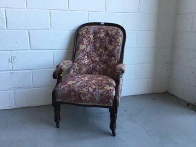 Lot 31-William IV rosewood open armchair