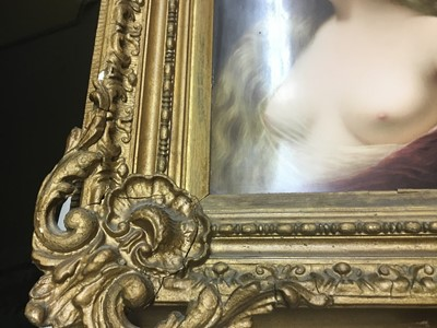 Lot 45-Fine quality late 19th century Berlin KPM painted porcelain plaque, depicting Venus, signed R. Dittrich lower right, the back with beehive mark and title, the plaque approx 27cm x 22cm