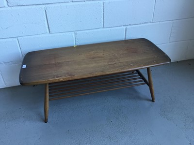 Lot 37-Ercol 'Golden Dawn' coffee table of rectangular form with under tier, 104cm in length, 36cm in height, 45cm width