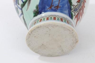 Lot 23 - Chinese Wucai vase